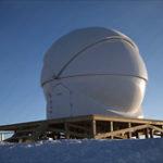Geschlossene Baader Planetarium Kuppel in der Antarktis