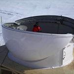 Baader Kuppel geöffnet in der Antarktis bei Tag