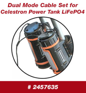 Dual Mode Cable Set for Celestron Power Tank LiFePO4