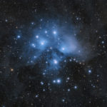 M45 - the Plejades taken with Baader APO and GM 1000 HPS