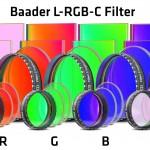 Die Baader L-RGB-C CCD-Filter