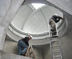 Vorbebreitung für Sternwarte Endmontage