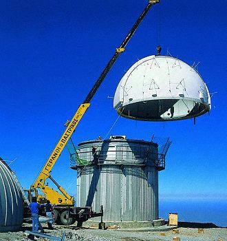 Baader Planetarium Dome Montage Kreta Mt. Skinakas