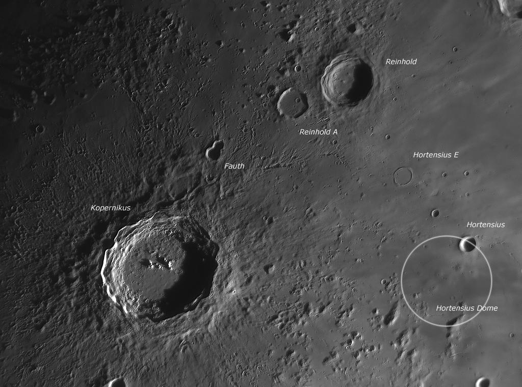 Mondkrater Aufnahmen mit Baader IR Passfilter