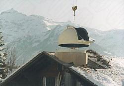 Montage mit Krank von Baader Dome in Lenk - Schweiz