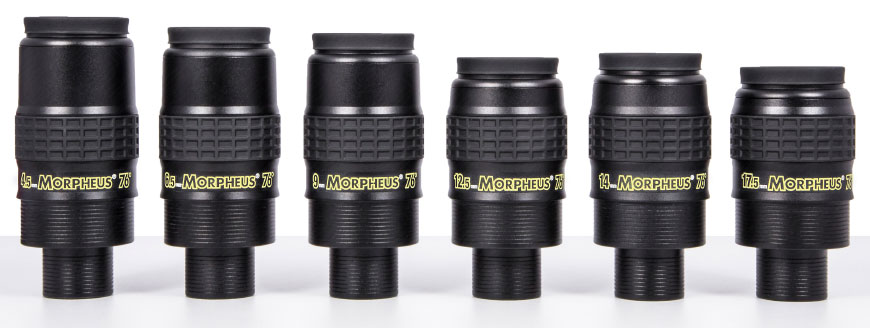 The Morpheus 76° eyepiece family
