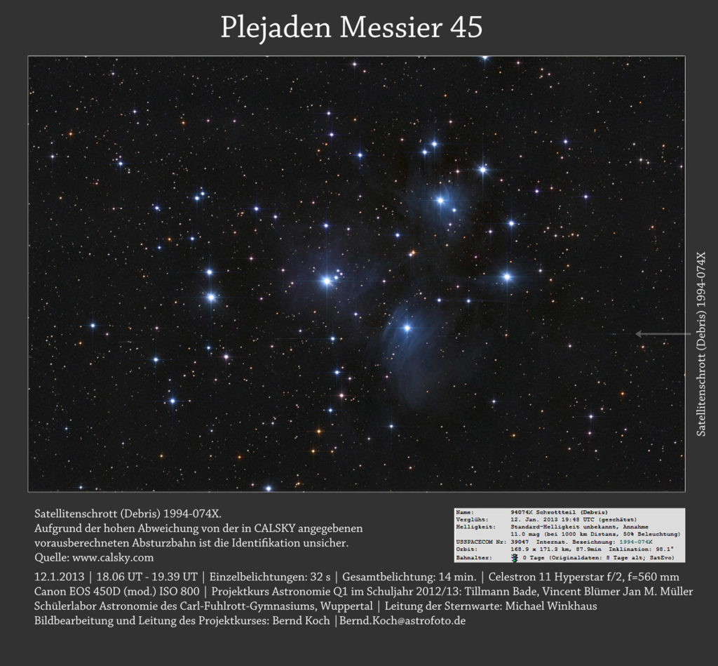 Plejaden Messier 45