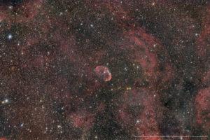 Der Sichelnebel oder Crescent Nebula NGC 6888 im Schwan, 20x180 Sekunden
