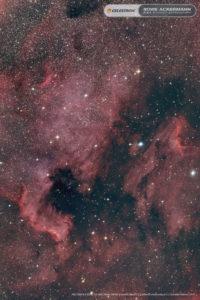 Der Nordamerikanebel NGC7000, 12x180 Sekunden