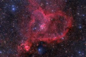 """Der Heart Nebula – Aufnahme von Jimmy Walker mit 11""""-RASA, 12x5 Minuten auf Bisque-Montierung, ohne Guiding."""