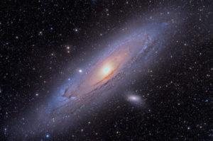 """M31 mit 11""""-RASA auf Bisque-Montierung – 18x5 Minuten ohne Nachführkontrolle. Aufnahme von Jimmy Walker."""