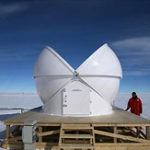 Baader Dome halb offen in der Antarktis für Forschungszwecke