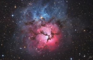 APOD: Trifid nebula taken with PlaneWave CDK 17 on Rooisand Observatory
