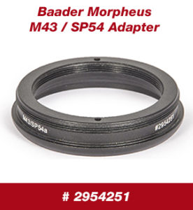 Morpheus® M43/SP54 Adapter