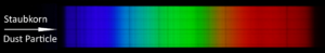 My spectra show dark stripes (see mark in picture) - where do they come from?