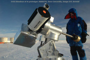 """El Capitano"" at Dome C of the Concordia Station in Antarctica"""
