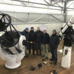 Telescope installations in November and Dezember