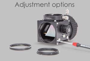 Baader FlipMirror Adjustment options