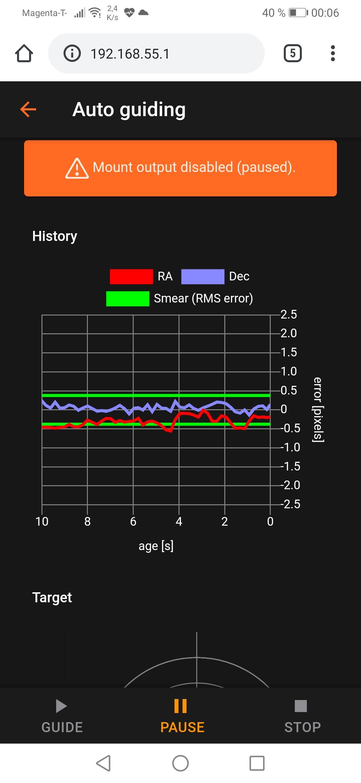 Celestron CGX mount in measurement mode