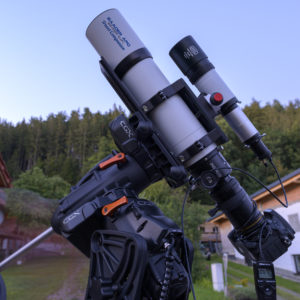 Baader Apo 95/580 CaF2 Travel Companion on a Celestron CGX mount with StarAid Revolution as autoguider and Baader Multi-Purpose Vario Finder 10x60