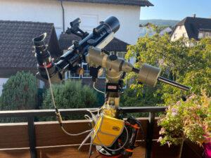 SunDancer II on the telescope