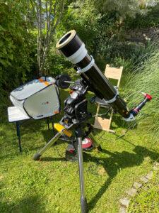 Skywatcher Evostar 120 ED mit 900mm Brennweite mit Baader SunDancer II
