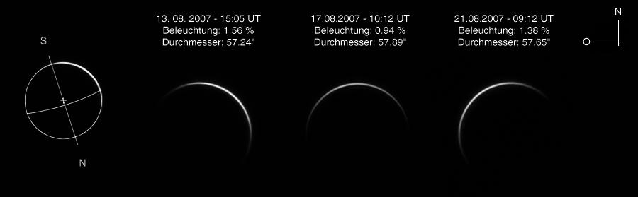 Venus 3 Tage Fotos mit Baader Planetarium IR Passfilter