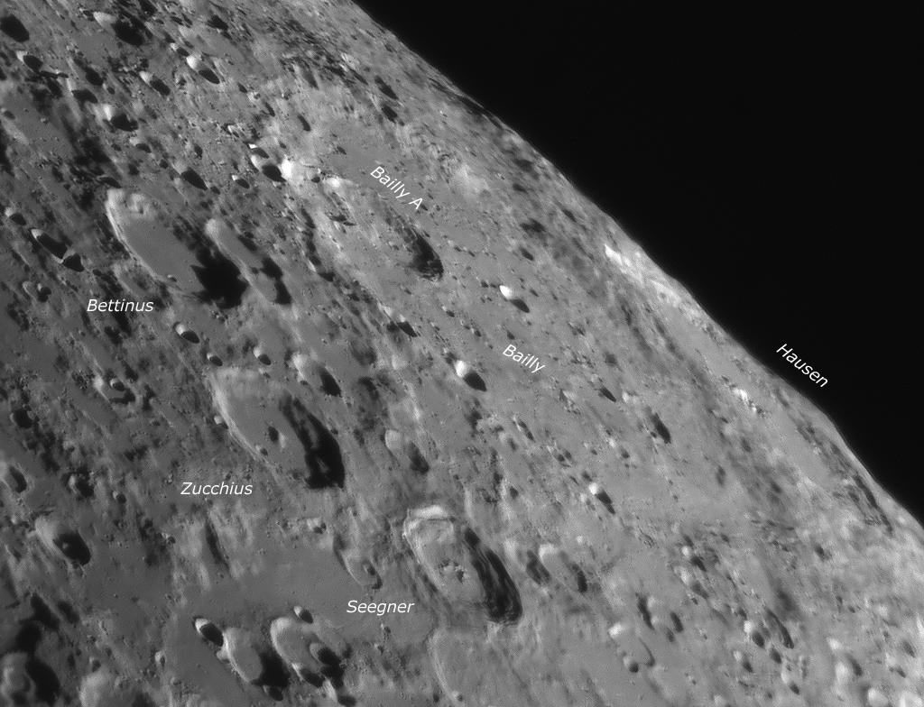 Mondlandschaft aufgenommen mit IR Passfilter von Baader Planetarium