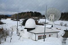 Baader Planetarium Dome geöffnet für Kartografie im Winter
