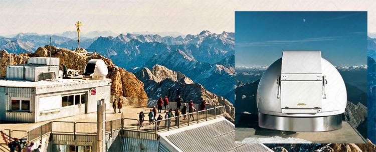 Baader Sternwartenkuppel auf der Zugspitze