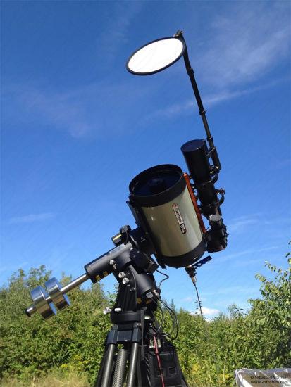 Teleskop C11 EdgeHD und IR Passfilter während der Venusaufnahme