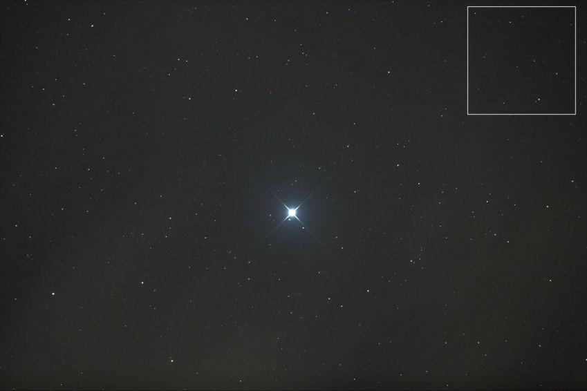 Deepsky Aufnahme Nachthimmel mit Canon und Newton Teleskop