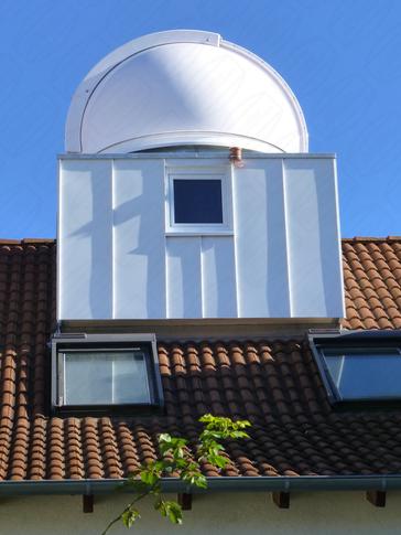 Private Sternwarte Kuppel auf Dachgaube