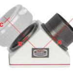 Optische Baulängen des Clicklock Zenitspiegels