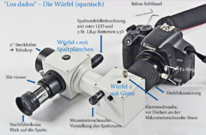 Canon EOS 450D DSLR-Kamera am DADOS-Spaltspektrografen. Foto: © Bernd Koch