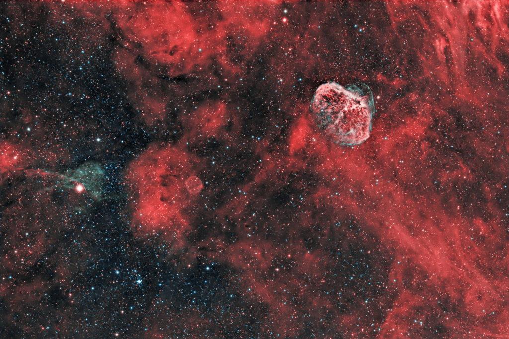 NGC6888, Aufnahme von Sara Wager. Montierung: Avalon Linear Fast Reverse.