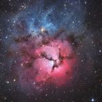 APOD: Trifidnebel aufgenommen mit PlaneWave CDK 17 auf der Rooisand Sternwarte
