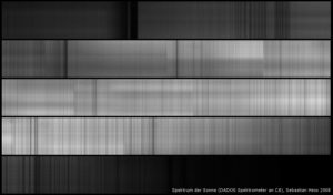 Sonnenspektrum mit dem 900/L Gitter