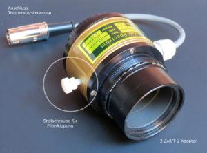 Stellschraube für Filterkippung