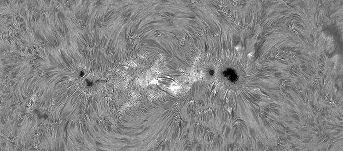 Sonnenfleckengruppe AR 2674, aufgenommen am 5. September 2017
