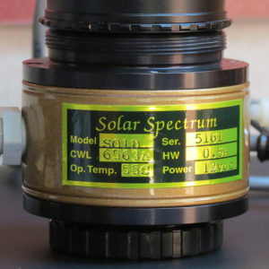 H-alpha SunDancer Filter von SolarSpectrum