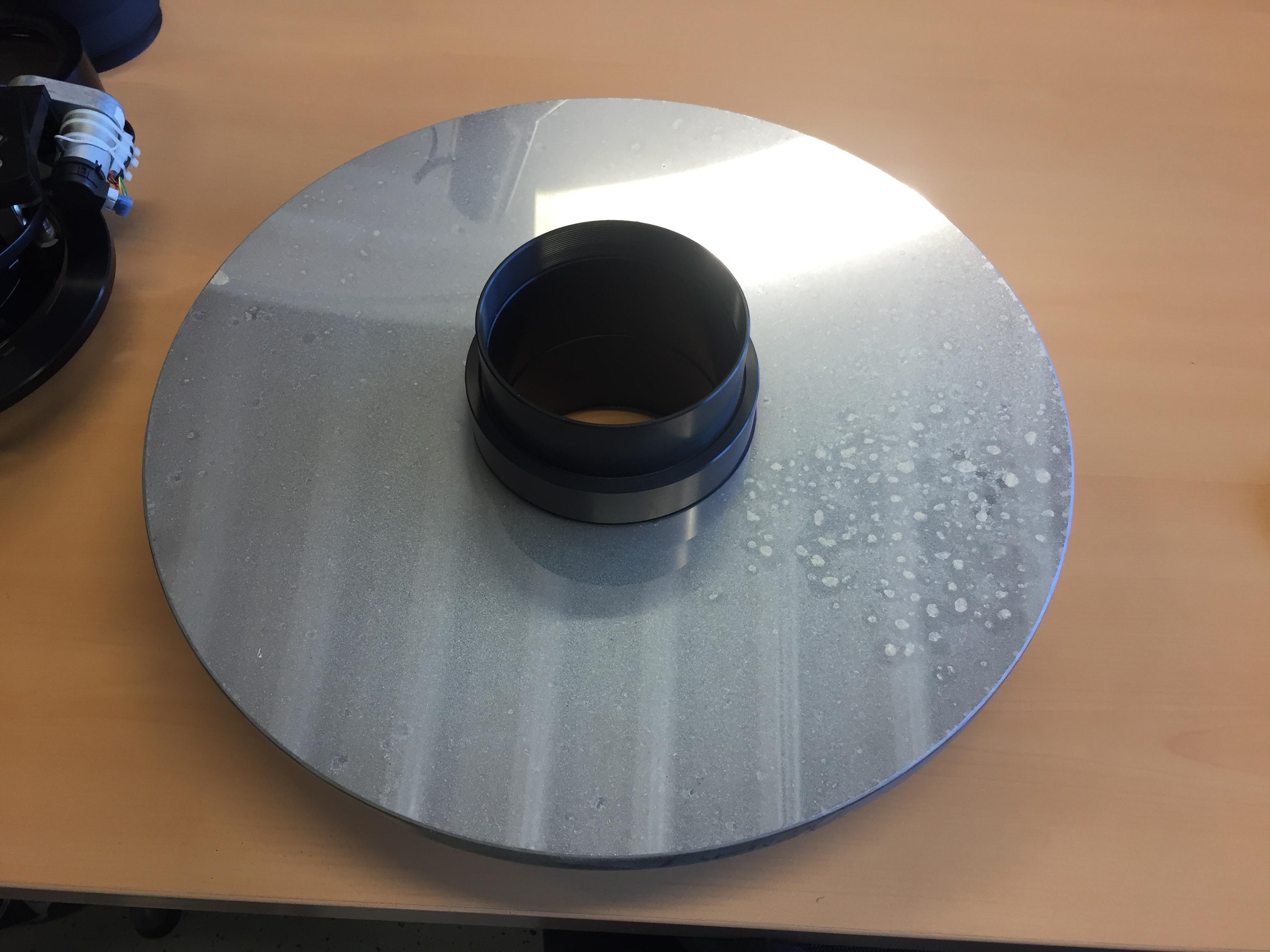 Reinigung eines cdk 17 spiegels mit optical wonder baader