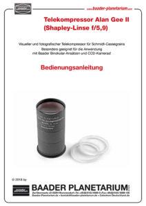 Anleitung Telekompressor Alan Gee II (Shapely-Linse f/5,9)
