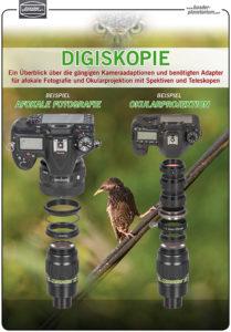 Adapter-Nachschlagewerk für afokale Fotografie und Okularprojektion