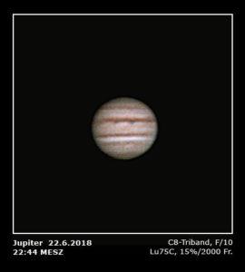 Jupiterbeobachtung mit Baader C8 Triband