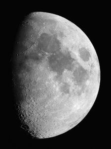 Mondfotografie mit einer digitalen Spiegelreflexkamera (DSLR)