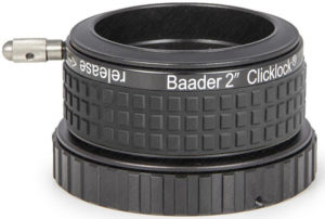 "Baader 2"" ClickLock M68i x 0.75 clamp (for Hexafoc focusers with M68 x 0.75a thread, Bresser, Explore Scientific / Omegon) – scope of supply with Allan Wrench Key 1,3 mm and three M 2,5 headless set-screws."
