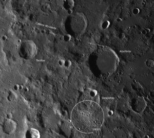 Der Krater Abulfeda, Catena Abulfeda und der geheimnisvolle Descartes SWIRL, © 2019 by W. Paech+F. Hofmann – Camäleon Observatory, Namibia