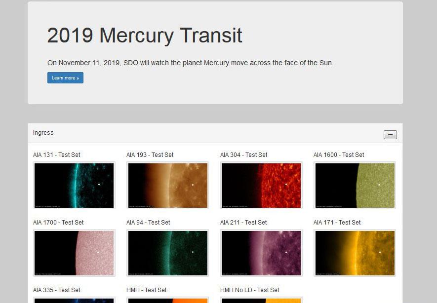 2019 Mercury Transit NASA: Filmsequenzen des Sonnensatelliten SDO