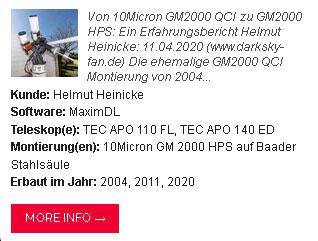 Von 10Micron GM2000 QCI zu GM2000 HPS: Lesen Sie hier den Erfahrungsbericht von Helmut Heinicke